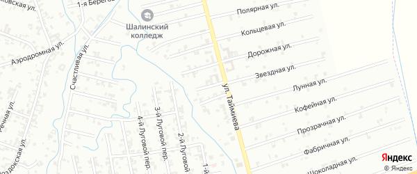 2-й Магнитный переулок на карте Шали с номерами домов