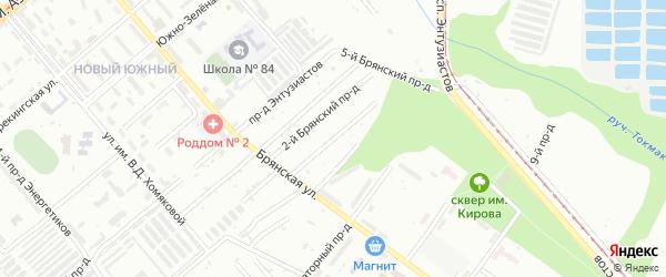 3-й Брянский проезд на карте Саратова с номерами домов