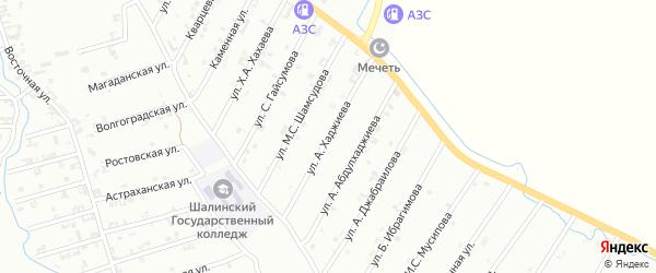 Улица Х.Хаджиева на карте Шали с номерами домов