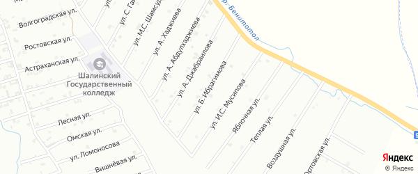 Улица Х.И.Ибрагимова на карте Шали с номерами домов