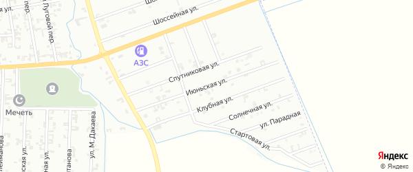 3-я Спутниковая улица на карте Шали с номерами домов