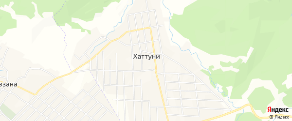 Карта села Хаттуни в Чечне с улицами и номерами домов