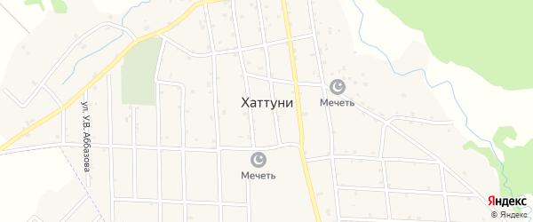 Улица С.Ш.Шепиева на карте села Хаттуни с номерами домов