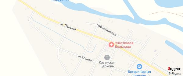 Кооперативный переулок на карте села Старицы Астраханской области с номерами домов