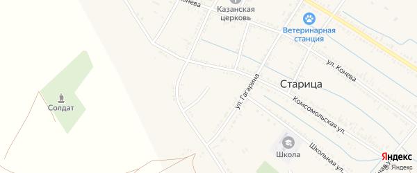 Переулок Волго-Дон на карте села Старицы Астраханской области с номерами домов