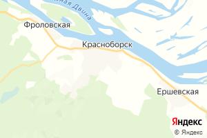 Карта пос. Красноборск Архангельская область