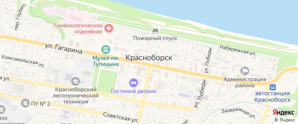 Улица имени И. Быстрова на карте села Красноборска с номерами домов