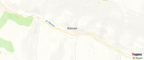 Карта села Кенхи в Чечне с улицами и номерами домов