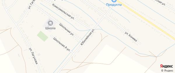 Юбилейная улица на карте села Старицы Астраханской области с номерами домов