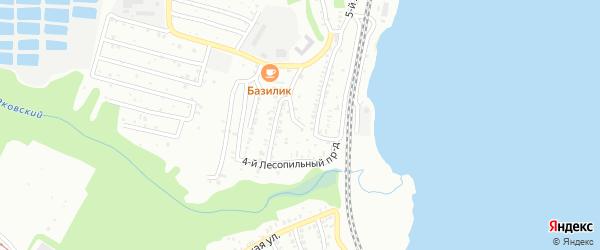 1-й Лесопильный тупик на карте Саратова с номерами домов
