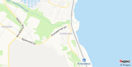 Карта поселка Князевка в Саратове с улицами, домами и почтовыми отделениями со спутника онлайн