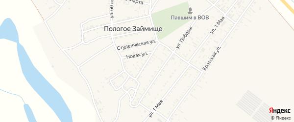 Интернациональная улица на карте села Пологого Займища Астраханской области с номерами домов