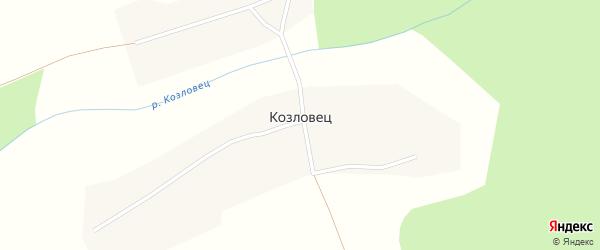 Улица Козловец на карте деревни Козловца Марий Эл с номерами домов
