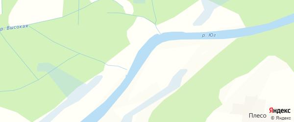 Карта деревни Плостиево в Вологодской области с улицами и номерами домов