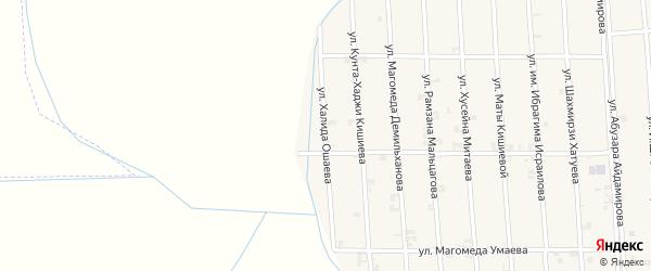 Улица Халида Ошаева на карте села Автуры Чечни с номерами домов
