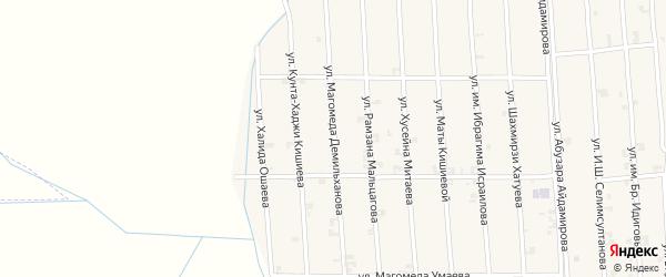 Улица Магомеда Демильханова на карте села Автуры Чечни с номерами домов