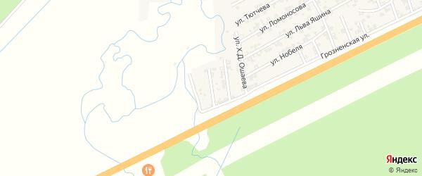 Западная улица на карте села Джалка Чечни с номерами домов
