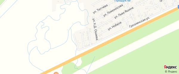Болотная улица на карте села Джалка Чечни с номерами домов