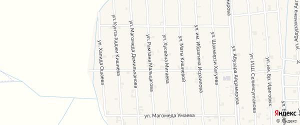 Улица Рамзана Мальцагова на карте села Автуры Чечни с номерами домов