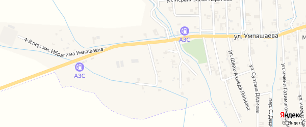 Переулок 1-й Умпашаева на карте села Автуры Чечни с номерами домов