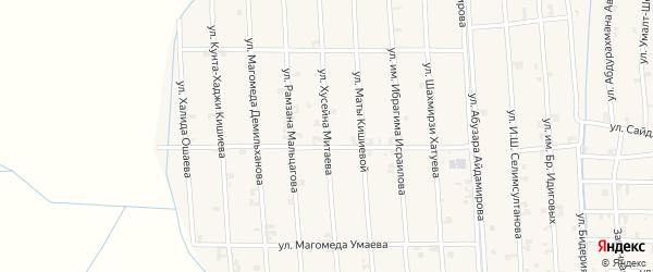 Улица Хусейна Митаева на карте села Автуры Чечни с номерами домов