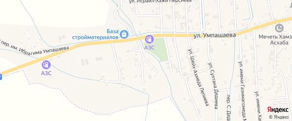 Переулок 2-й Умпашаева на карте села Автуры Чечни с номерами домов
