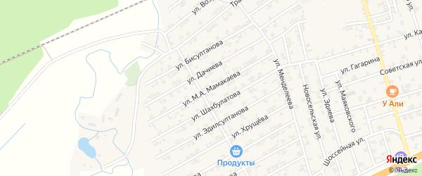 Улица Мамакаева на карте села Джалка Чечни с номерами домов