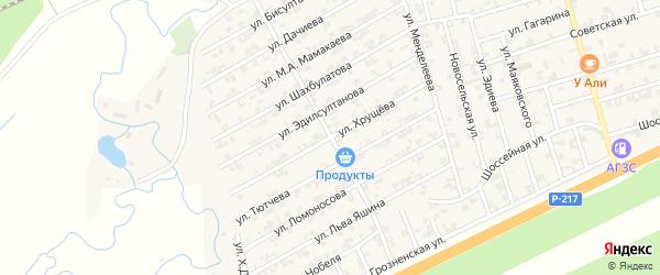 Улица Хрущева на карте села Джалка Чечни с номерами домов