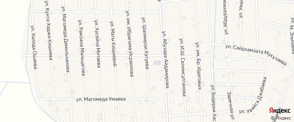 Улица Шахмирзи Хатуева на карте села Автуры Чечни с номерами домов