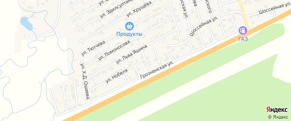 Улица Гануева на карте села Джалка Чечни с номерами домов
