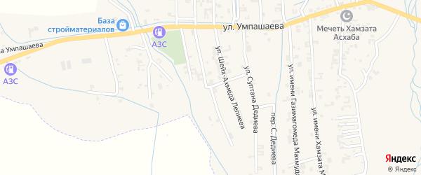 Улица Адама Яхьяева на карте села Автуры Чечни с номерами домов