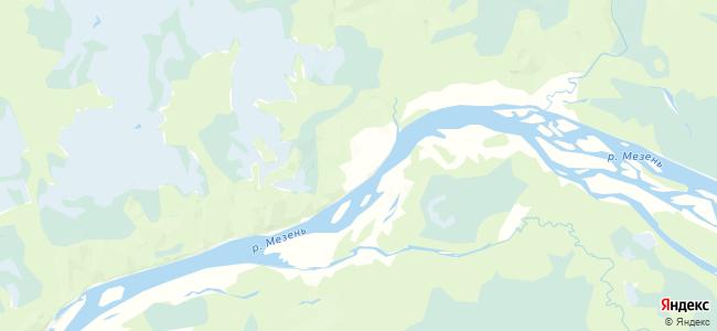 Пылема на карте