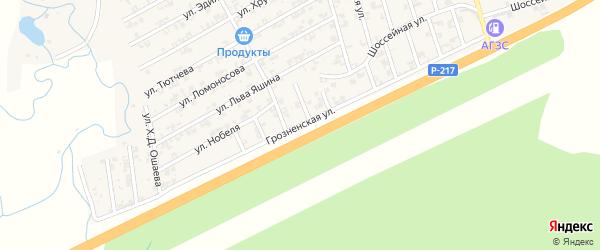 Грозненская улица на карте села Джалка Чечни с номерами домов