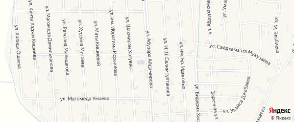 Улица Абузара Айдамирова на карте села Автуры Чечни с номерами домов