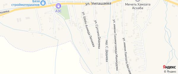 Улица Шейх-Ахмеда Лепиева на карте села Автуры Чечни с номерами домов
