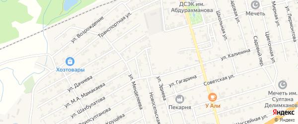 Апрельский переулок на карте села Джалка Чечни с номерами домов