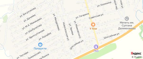 Улица Эдиева на карте села Джалка Чечни с номерами домов