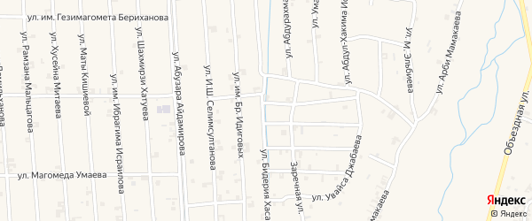 Улица Бидерия Хасана на карте села Автуры Чечни с номерами домов