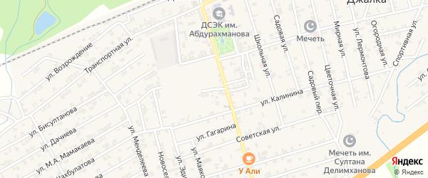 Стадионная улица на карте села Джалка Чечни с номерами домов