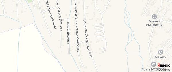 Улица им Хамзата Митаева на карте села Автуры Чечни с номерами домов
