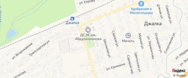 Переулок Мичурина на карте села Джалка Чечни с номерами домов