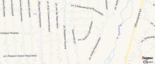 Улица Хуты Ахмархаджиева на карте села Автуры Чечни с номерами домов