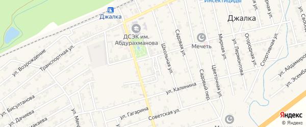 Переулок Ленина на карте села Джалка Чечни с номерами домов