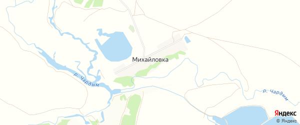 Карта деревни Михайловки в Саратовской области с улицами и номерами домов