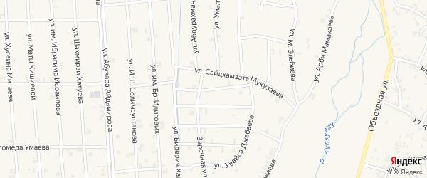 Улица Дени-Шейха Арсанова на карте села Автуры Чечни с номерами домов