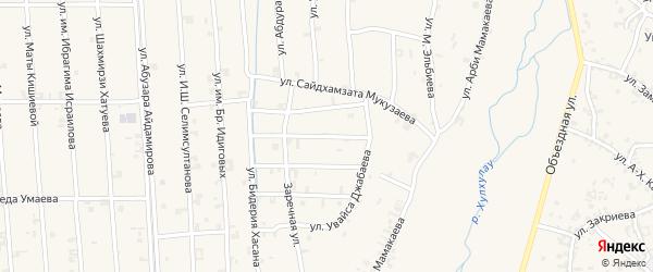 Улица Мовлида Висаитова на карте села Автуры Чечни с номерами домов