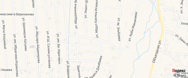 Улица Сайдхамзата Мукузаева на карте села Автуры Чечни с номерами домов
