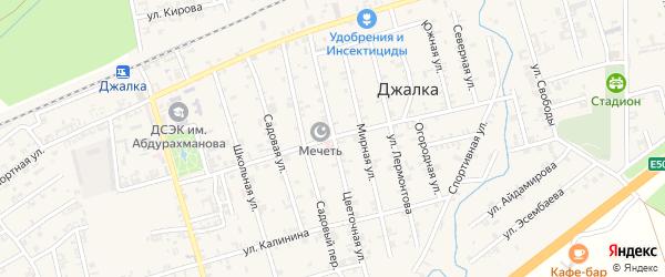 Улица Султана Билимханова на карте села Джалка Чечни с номерами домов