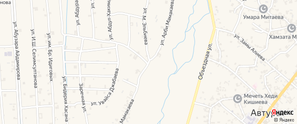 Улица Мамакаева на карте села Автуры Чечни с номерами домов