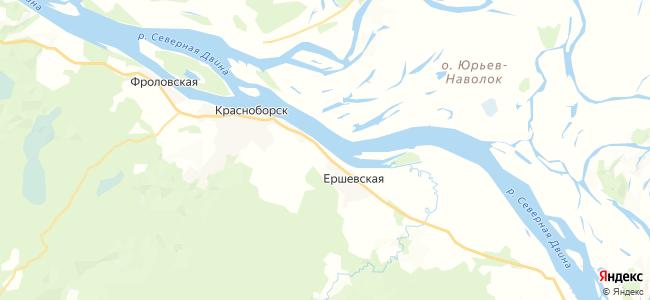 Осташевская на карте